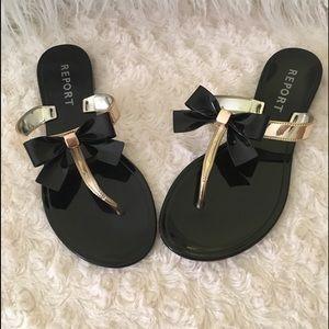 New!  Kikki Vinyl Sandals